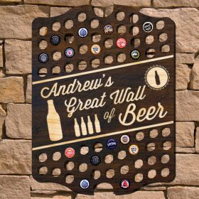 Great Wall of Beer Personalized Bar Sign (Signature Series)
