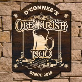 Ole Irish Custom Pub Sign (Signature Series)