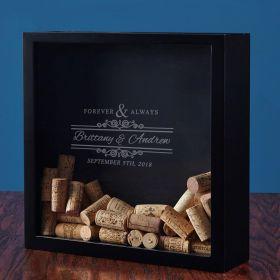 Forever & Always Custom Wine Cork Shadow Box
