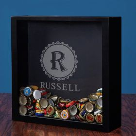 Open Beer Bottle Cap Shadow Box