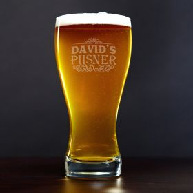 Cassidy Personalized Pilsner Beer Glass