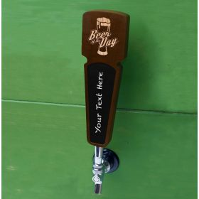 Beer of the Day Walnut Wood Tap Handle
