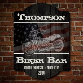 American Biker Custom Wooden Sign