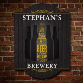 Cool & Crafted Personalized Beer Sign