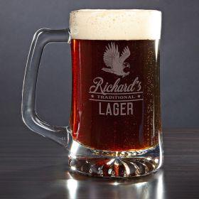 Rushmore Engraved Beer Mug