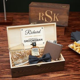 Classic Monogram Custom Groomsmen Gift Box Set