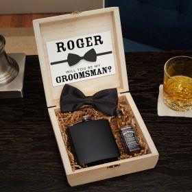 Drake Blackout Custom Cigar Humidor Groomsmen Gift Box Set