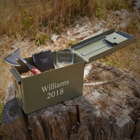 Special Ops Custom Engraved Bullet Box Groomsmen Gift Set