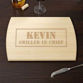 Branded BBQ Engraved Bamboo Cutting Board