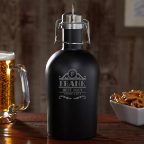 Rockefeller Personalized Growler - Groomsman Gift Idea