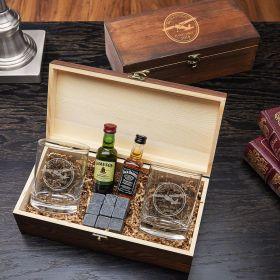 Aviator Engraved Whiskey Set Gift for Pilots