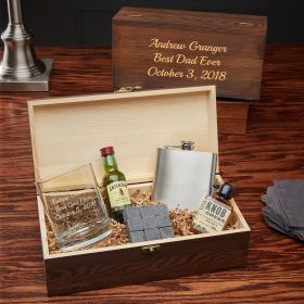 Engraved Taste of Whiskey Gift Set for Whiskey Lovers