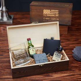 American Heroes Custom Whiskey Box Set - Gift for Veterans