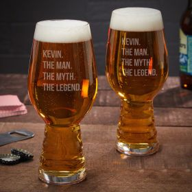 Man Myth Legend Custom Spiegelau IPA Glass, Set of 2