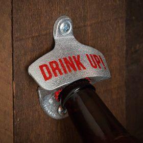 Drink Up Wall Mounted Bottle Opener