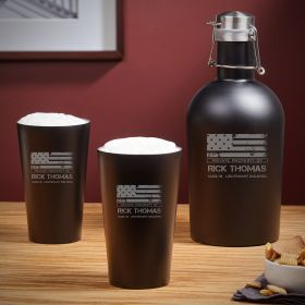 American Heroes Custom Growler & Pint Set - Veteran Gift