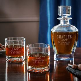 Classic Groomsman Engraved Decanter Set – Cool Groomsmen Gifts