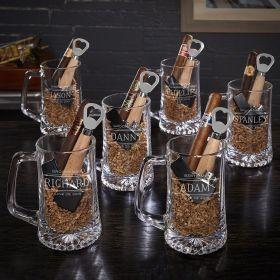 Stanford Custom Cigar & Beer Gift Sets for Groomsmen – Set of 6