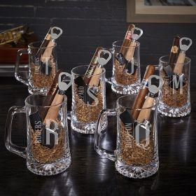 Elton Personalized Beer & Cigar Gift Sets for Groomsmen – Set of 6