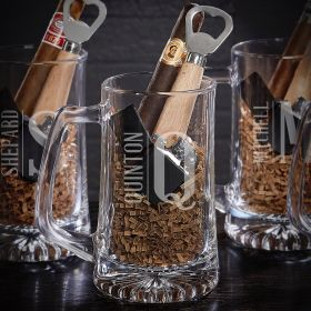 Elton Personalized Cigar & Beer Gift Set for Men