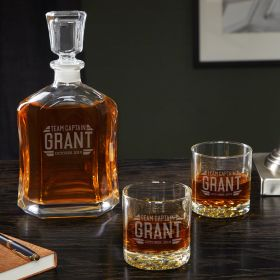 Bradshaw Custom Groomsmen Decanter & Glasses