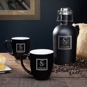 Oakhill Custom Stainless Steel Coffee Carafe & Mugs
