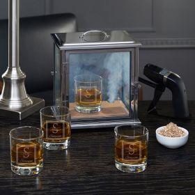 Oakhill Smoke Box Kit with Custom Whiskey Glasses