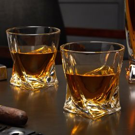 Twist Unique Whiskey Glasses