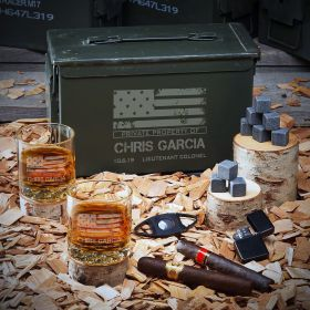 American Heroes Personalized Ammo Can Set - Gift for Military