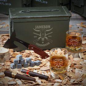 Midland Custom 50 Cal Whiskey Set - Gift for Cowboy