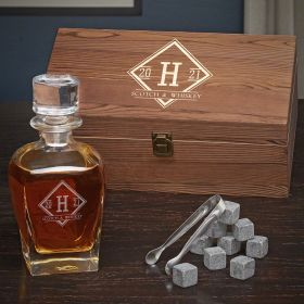 Drake Personalized Draper Decanter Box Set