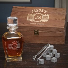 Marquee Personalized Whiskey Draper Decanter Set