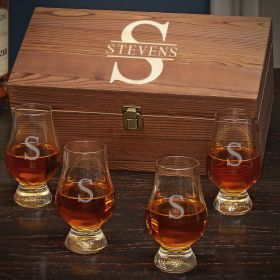Oakmont Personalized Glencairn Whiskey Gift Set