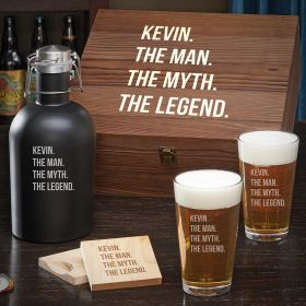 Man Myth Legend Custom Beer Gift Set