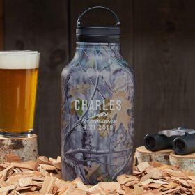 Classic Groomsman Personalized Camo Beer Growler - Gift for Groomsmen