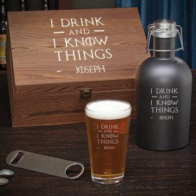 I Drink & I Know Things Custom Beer Gift Box