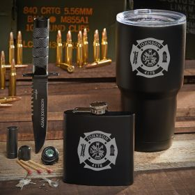 Spec Ops Fire & Rescue Personalized Tumbler Set – Gift for Firefighters