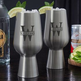 Oakmont Custom Stainless Steel Mojito Glasses - Set of 2