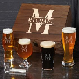 Oakmont Ultimate Personalized Gift for Beer Snob Box Set