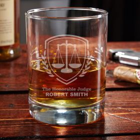 Liberty Scale Custom Eastham Whiskey Glass - Gift for Judges