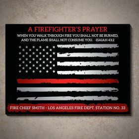 Custom Firefighter's Prayer Sign Isaiah 43:2