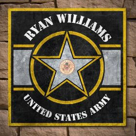 Army Strong Personalized Sign - Military Gift