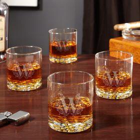Highbury Etched Whiskey Glasses