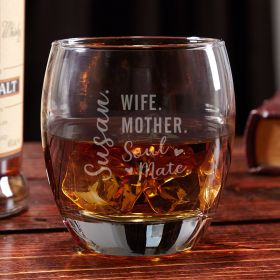 Found My Soul Mate Custom Bourbon Glass - Gift for Wife