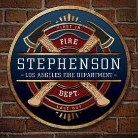 FireFighter Brotherhood Personalized Sign - Firefighter Gift