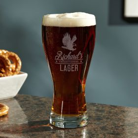 Rushmore Personalized Pilsner Beer Glass