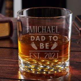 Dad to Be Customized Buckman Glass - Gifts for Dads to Be