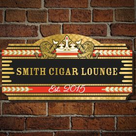 Smoke And Class Personalized Wooden Sign