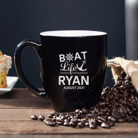 Boat Life is the Best Life Custom Coffee Mug
