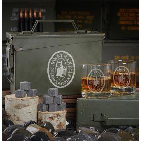Oak and Barrel Custom 30 Cal Ammo Can Bourbon Gifts